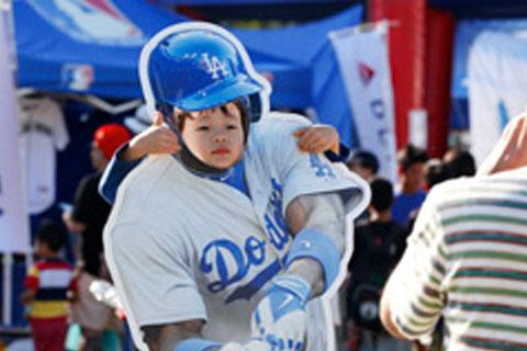 MLBオールスター等身大コーナー